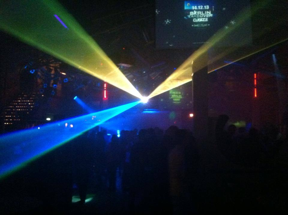 Lasershow im Dance Palace Konstanz